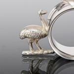 Silver-plated napkin ring of Australian interest