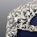 Rare triple fox-hunting-themed silver photo frame