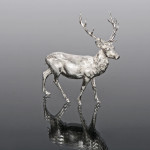 Silver model stag