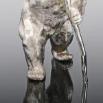 Silver circus bear model