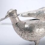 Large matched pair of silver pheasants