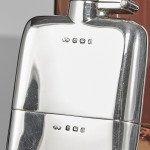 Small silver hip flask
