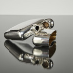 Large silver hip flask