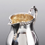 George III style silver milk jug