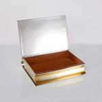 Silver book cigar box