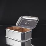 Charles II style silver casket cigar box