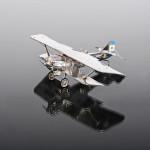Italian silver model plane with historical inscription