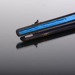 Antique silver & ebonised wood conductor's baton