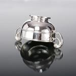 Two-handled Irish style silver bowl