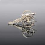 Silver model US Civil War cannon