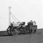 Silver model of Stephenson's Rocket