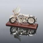 Silver Harley-Davidson WLA model