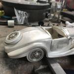 Mercedes Benz 540K Spezial roadster silver model