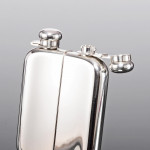 Silver double hip flask