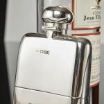 Edwardian silver hipflask