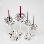 Flor silver candlestick - small