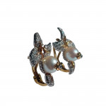A Pair of Pearl & Diamond Berry Earrings by Schlumberger for Tiffany