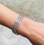 An Art Deco Three Row Diamond Bracelet/Necklace
