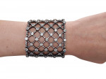 A French Natural Pearl & Diamond Bracelet