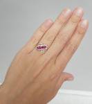 A Ruby & Diamond Set Ring
