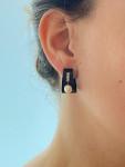 A Pair of Pearl & Diamond Earrings by Marsh
