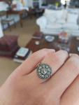 A Rose Cut Diamond Button Ring