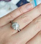 A Cushion Cut Diamond Ring