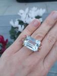 An Aquamarine & Ruby Cocktail Ring