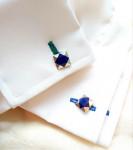 A Pair of Lapis Lazuli Cufflinks