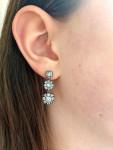 A Pair of Georgian Diamond Cluster Pendant Earrings