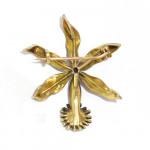 An Enamel & Diamond Orchid Brooch
