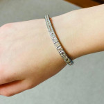 A Square Cut Diamond Line Bracelet