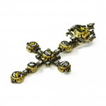 A Rare Mid 17th Century Enamel and Diamond Cross Pendant