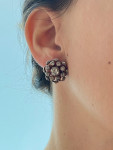 A Pair of Georgian Rose Cut Diamond Button Earrings