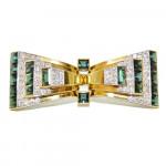 A Cartier Green Tourmaline & Diamond Brooch