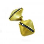 A Pair of Gold & Sapphire Cufflinks