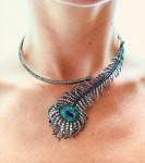 A Boucheron Peacock Feather Necklace & Brooch