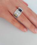 An Art Deco Diamond & Sapphire Dress Ring