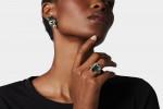 A Pair of Green Tourmaline & Diamond Earrings by Schlumberger