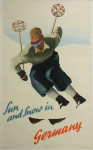 Sun And Snow in Germany, Ski Poster