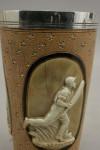 A Royal Doulton Lambeth Ware Cricket Beaker