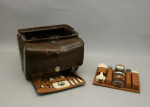 Fitted Leather Gladstone type Bag,