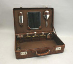 Leather Gentleman's Travelling Case with Fittings
