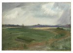 Antique Golf Painting of Rye Harbour