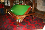 ANTIQUE CONVERTIBLE SNOOKER/DINNING TABLE. REVOLVING