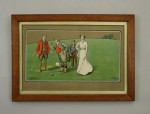 A pair of Lionel Edwards Golf chromolithographs.