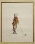 Sir James Macdonald Shooting Print Of Boy With Gun
