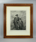 Antique Fishing Engraving, Steady Johnny Steady.