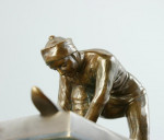 Bronz Figure Of A Skier, French C. 1900
