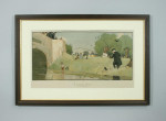 """Vintage fishing print """"A Likely Spot"""" by Cecil Aldin."""